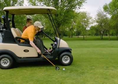 Pick up balls from your golf cart